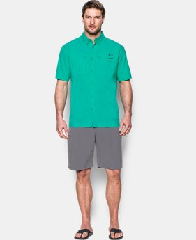 Men's UA Fish Hunter Solid Short Sleeve  1 Color $33.74