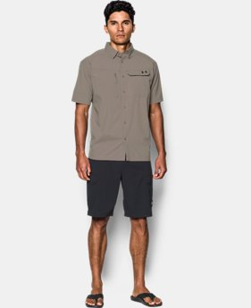 Men's UA Fish Hunter Solid Short Sleeve  1  Color Available $52.49