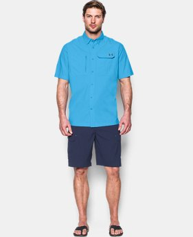 Men's UA Fish Hunter Solid Short Sleeve  2 Colors $33.74