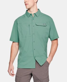 Men's UA Fish Hunter Solid Short Sleeve  1  Color Available $59.99