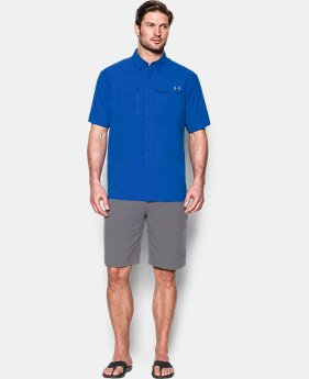 Men's UA Fish Hunter Solid Short Sleeve  1 Color $52.99