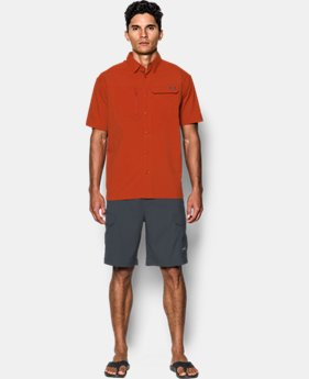 Men's UA Fish Hunter Solid Short Sleeve  1 Color $69.99