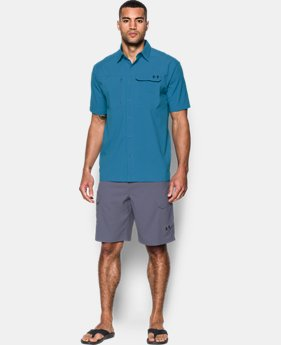 Men's UA Fish Hunter Solid Short Sleeve LIMITED TIME OFFER 1 Color $52.49