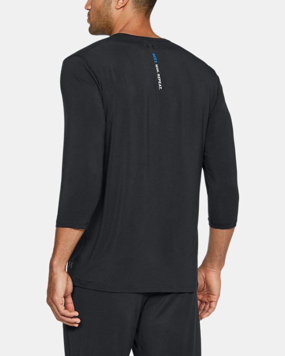 Men's UA RECOVER™ Ultra Comfort Sleepwear Henley, Black, pdpMainDesktop image number 4