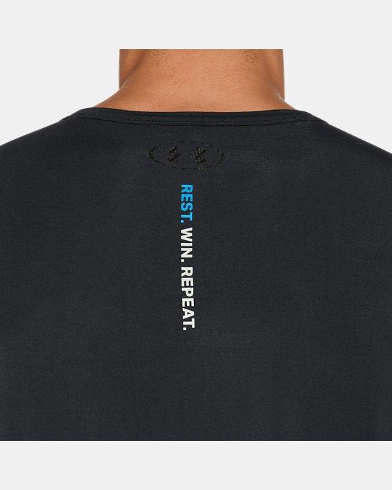 Men's UA RECOVER™ Ultra Comfort Sleepwear Henley, Black, pdpMainDesktop image number 8