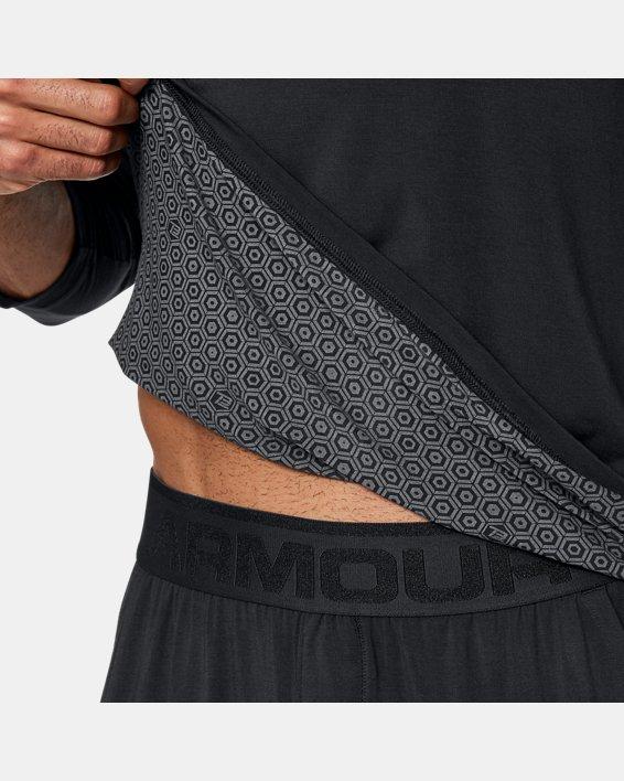 Men's UA RECOVER™ Ultra Comfort Sleepwear Henley, Black, pdpMainDesktop image number 9