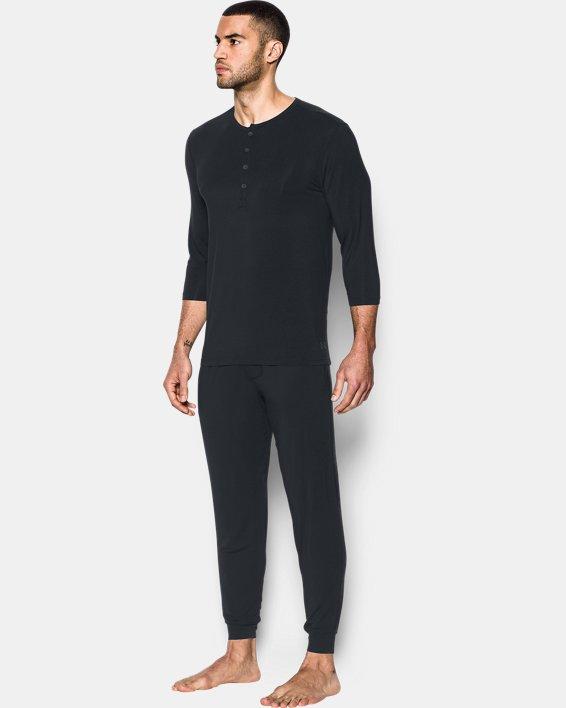 Men's UA RECOVER™ Ultra Comfort Sleepwear Henley, Black, pdpMainDesktop image number 2