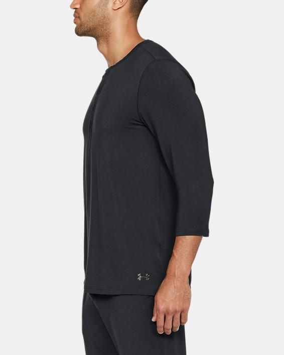 Men's UA RECOVER™ Ultra Comfort Sleepwear Henley, Black, pdpMainDesktop image number 5