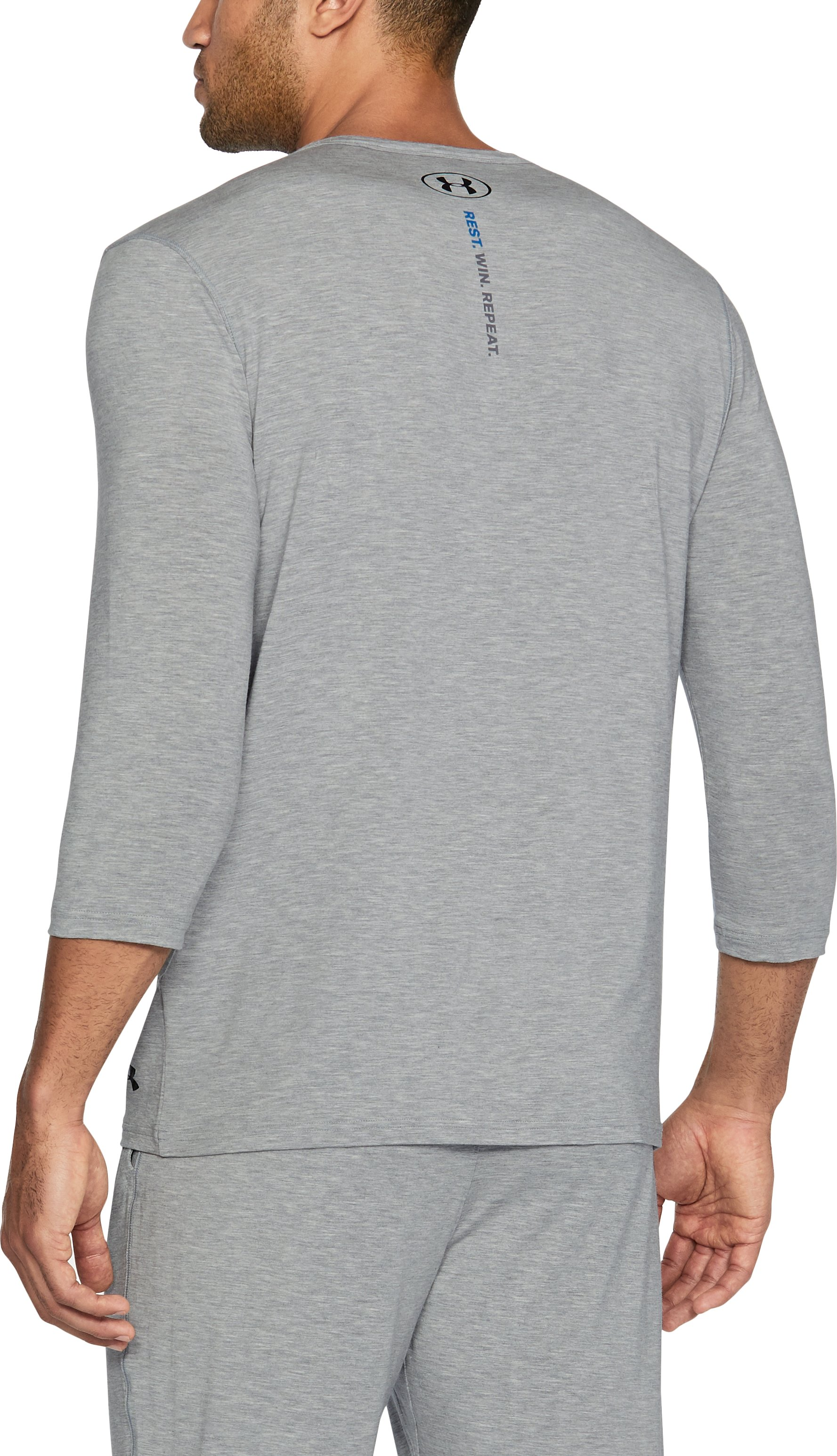 Men's Athlete Recovery Elite Sleepwear Henley, True Gray Heather, undefined