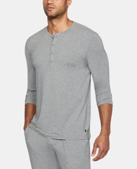 ELLEN DEGENERES SHOW PICK  Men's Athlete Recovery Sleepwear Henley  4 Colors $99.99
