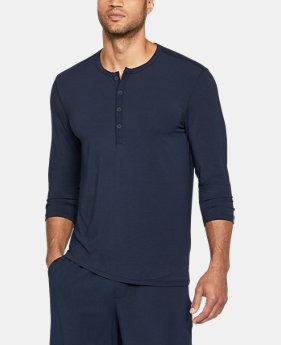 Best Seller Men's Athlete Recovery Ultra Comfort Sleepwear Henley  1  Color $99.99