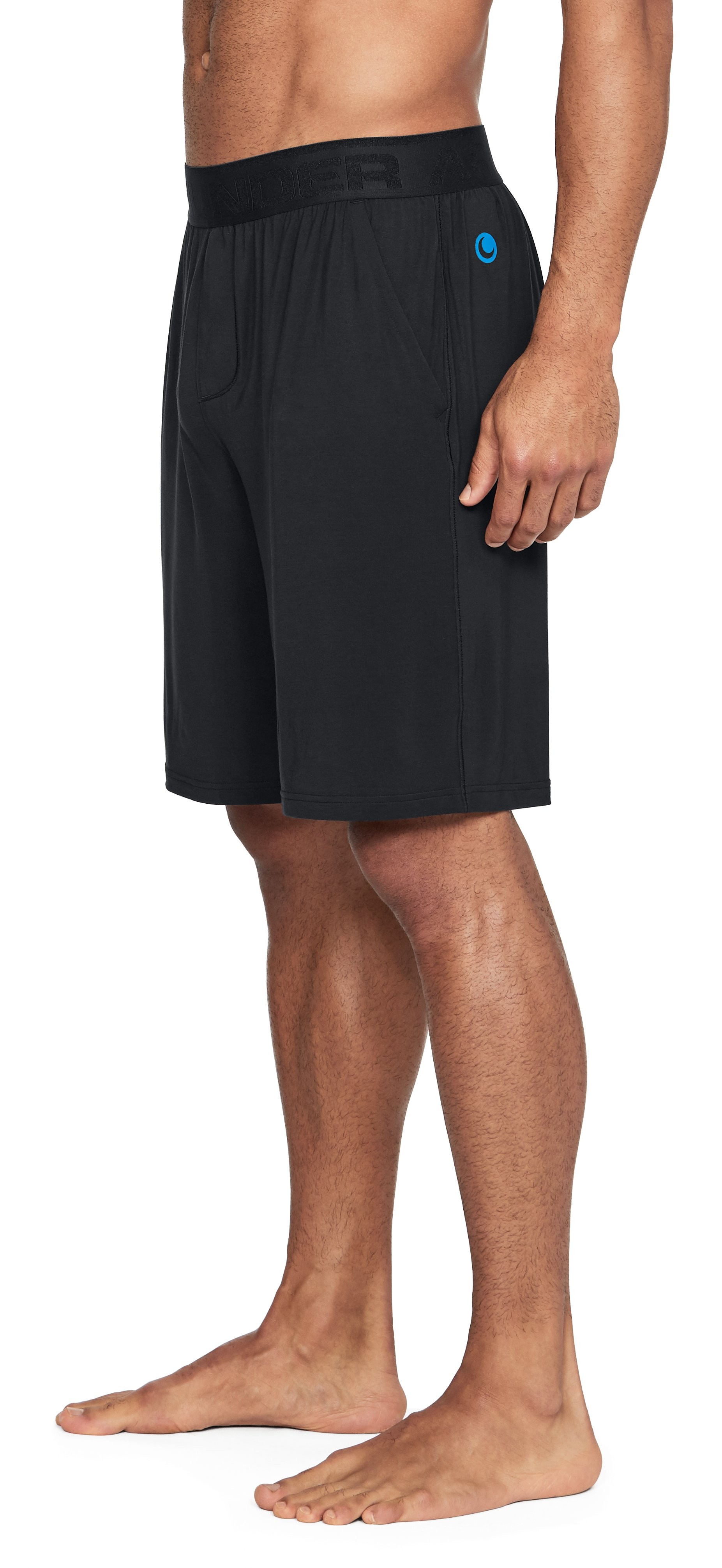 Men's Athlete Recovery Sleepwear Shorts, Black , undefined