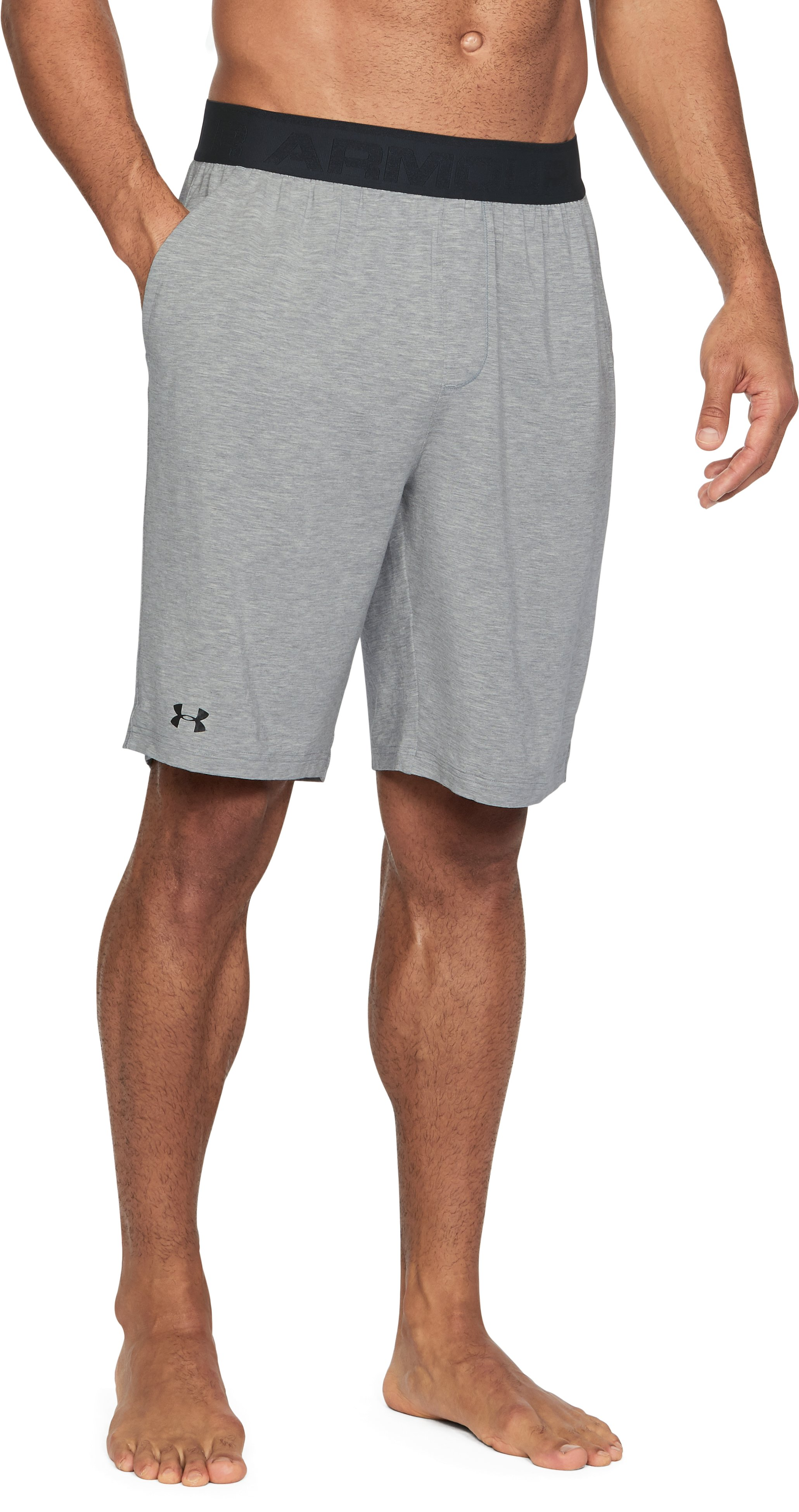 Men's Athlete Recovery Ultra Comfort Sleepwear Shorts, True Gray Heather