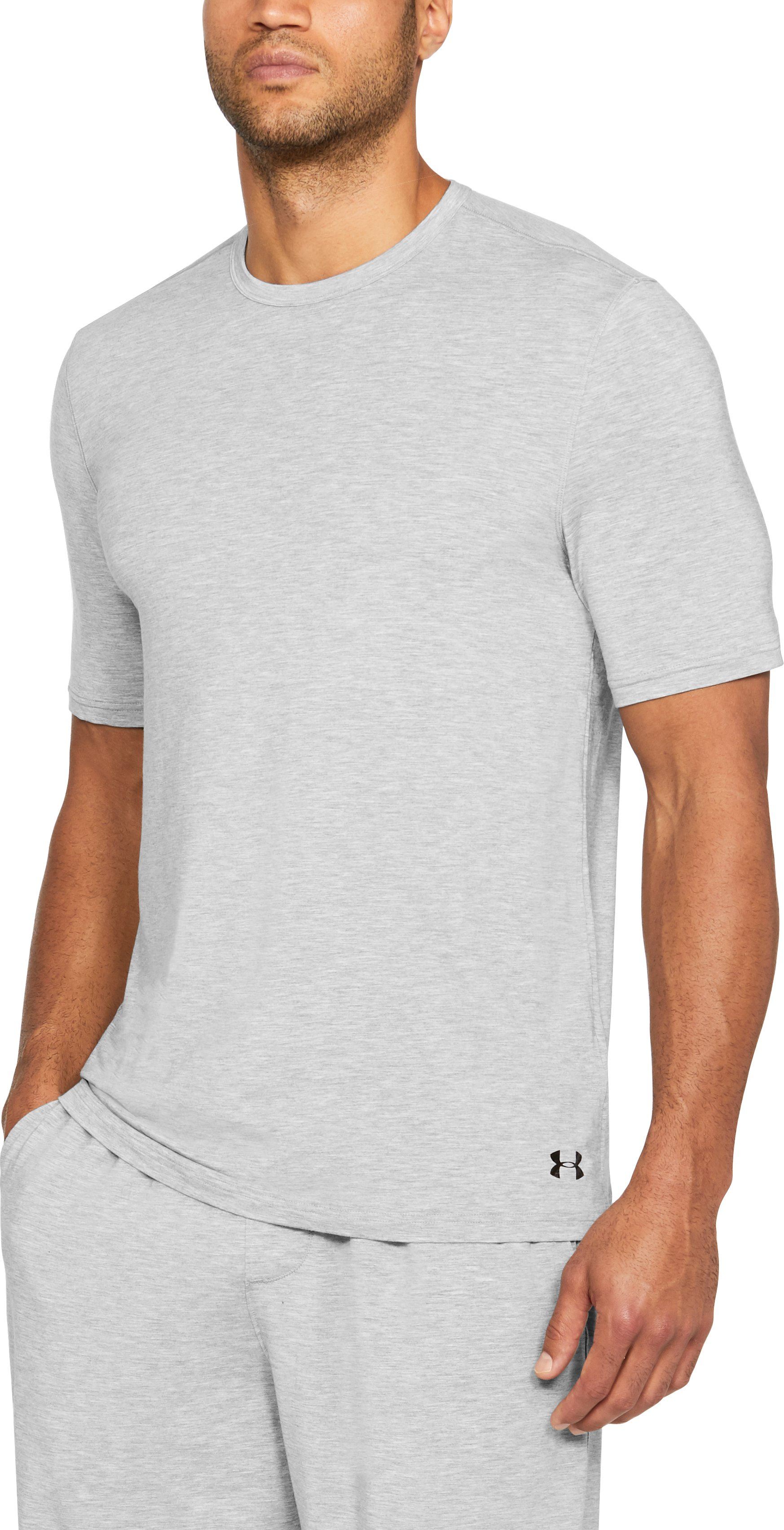Men's Athlete Recovery Ultra Comfort Sleepwear Short Sleeve, True Gray Heather