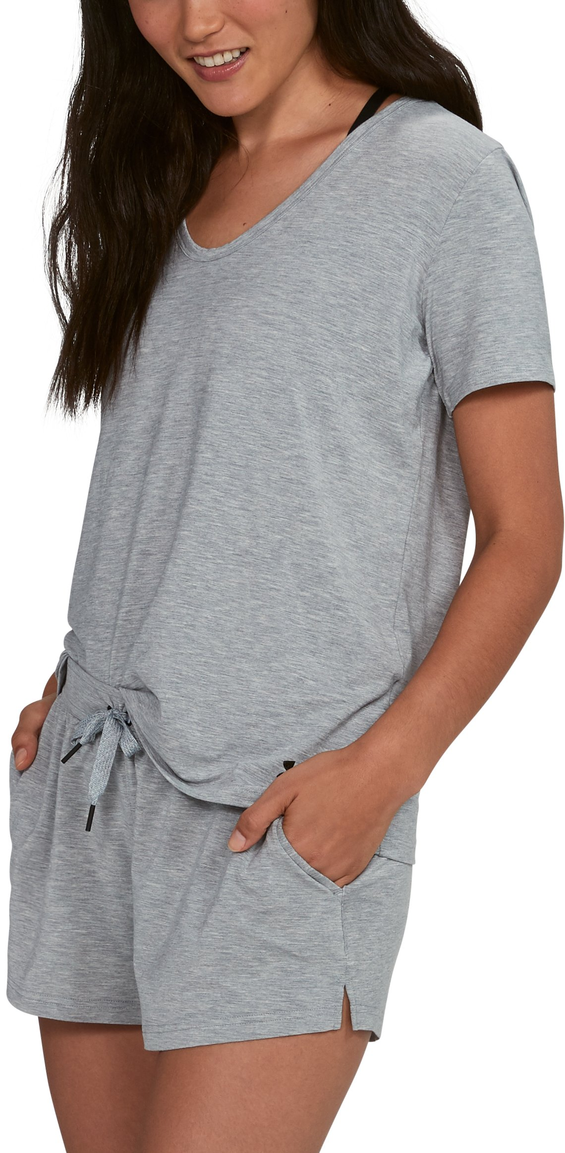 Women's Athlete Recovery Ultra Comfort Sleepwear Short Sleeve, True Gray Heather,
