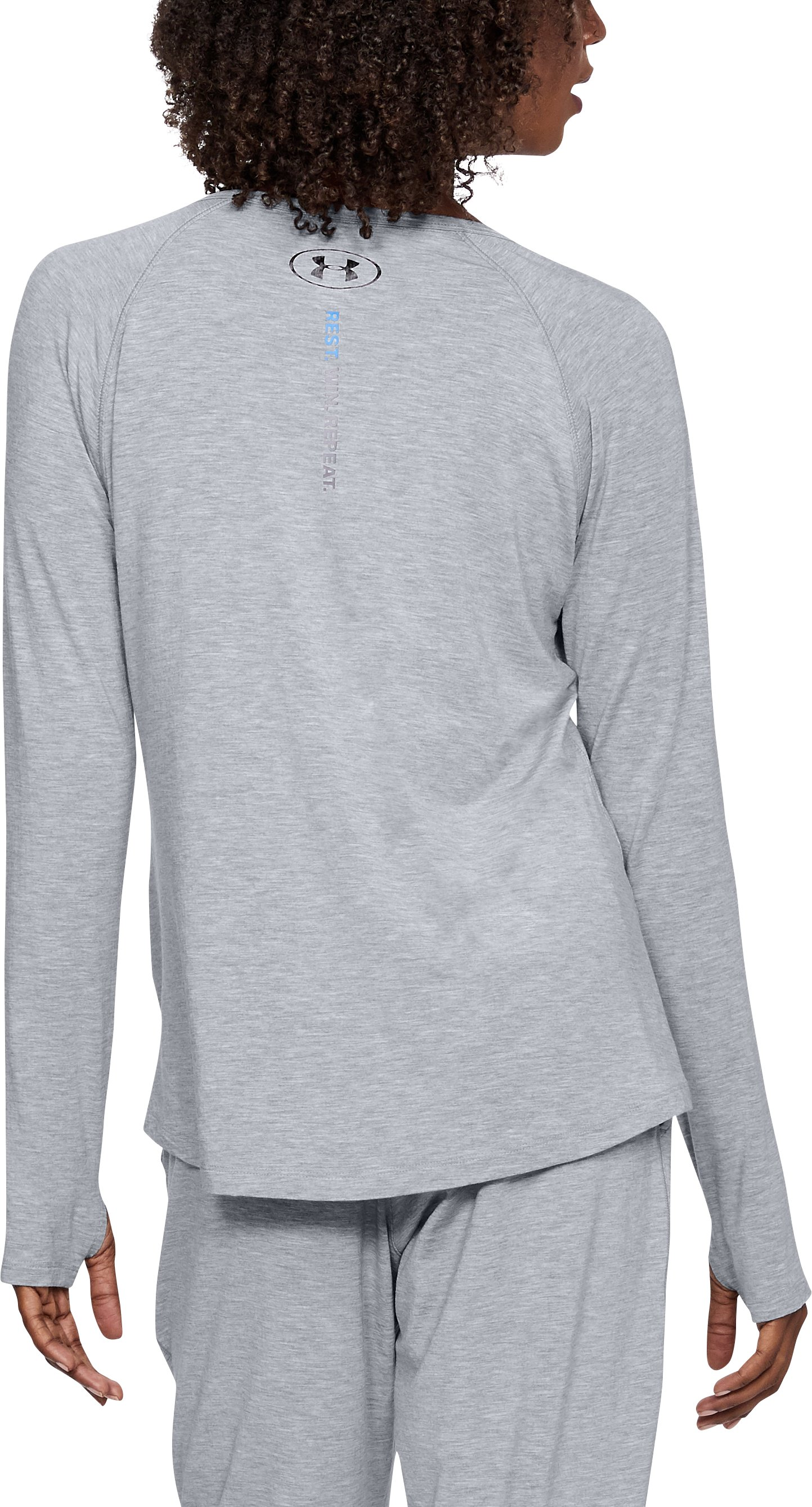 Women's Athlete Recovery Ultra Comfort Sleepwear Henley, True Gray Heather,