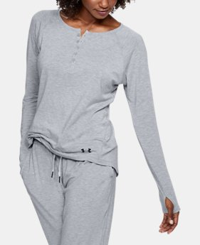 ELLEN DEGENERES SHOW PICK  Women's Athlete Recovery Sleepwear Henley  5 Colors $99.99