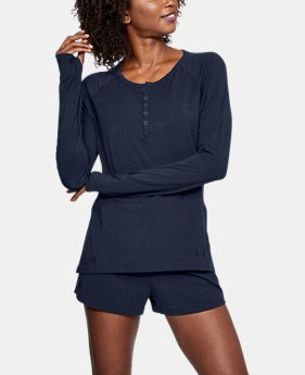 ELLEN DEGENERES SHOW PICK  Women's Athlete Recovery Sleepwear Henley  1 Color $99.99