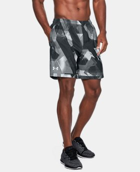 Men's UA Launch SW Printed 7'' Shorts  1  Color Available $44.99