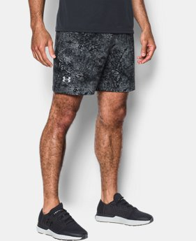 "Men's UA Speedpocket Printed 7"" Shorts  1 Color $29.99 to $37.49"