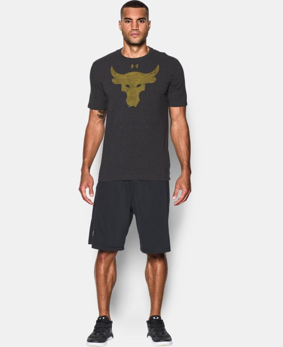 New Arrival  Men's UA x Project Rock Brahma Bull T-Shirt  1 Color $39.99