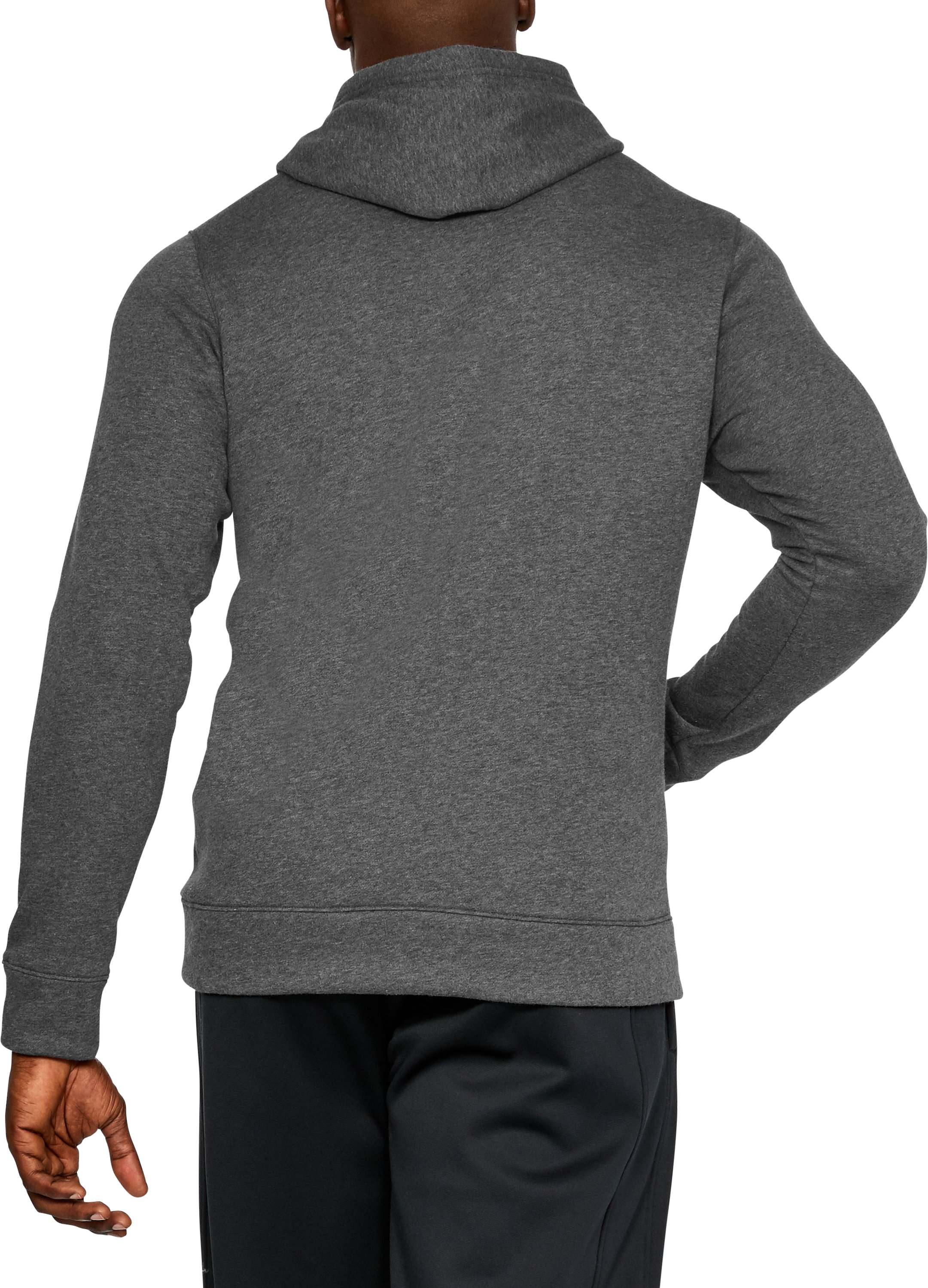 Men's UA Rival Fleece 2.0 Team Hoodie, Carbon Heather, undefined