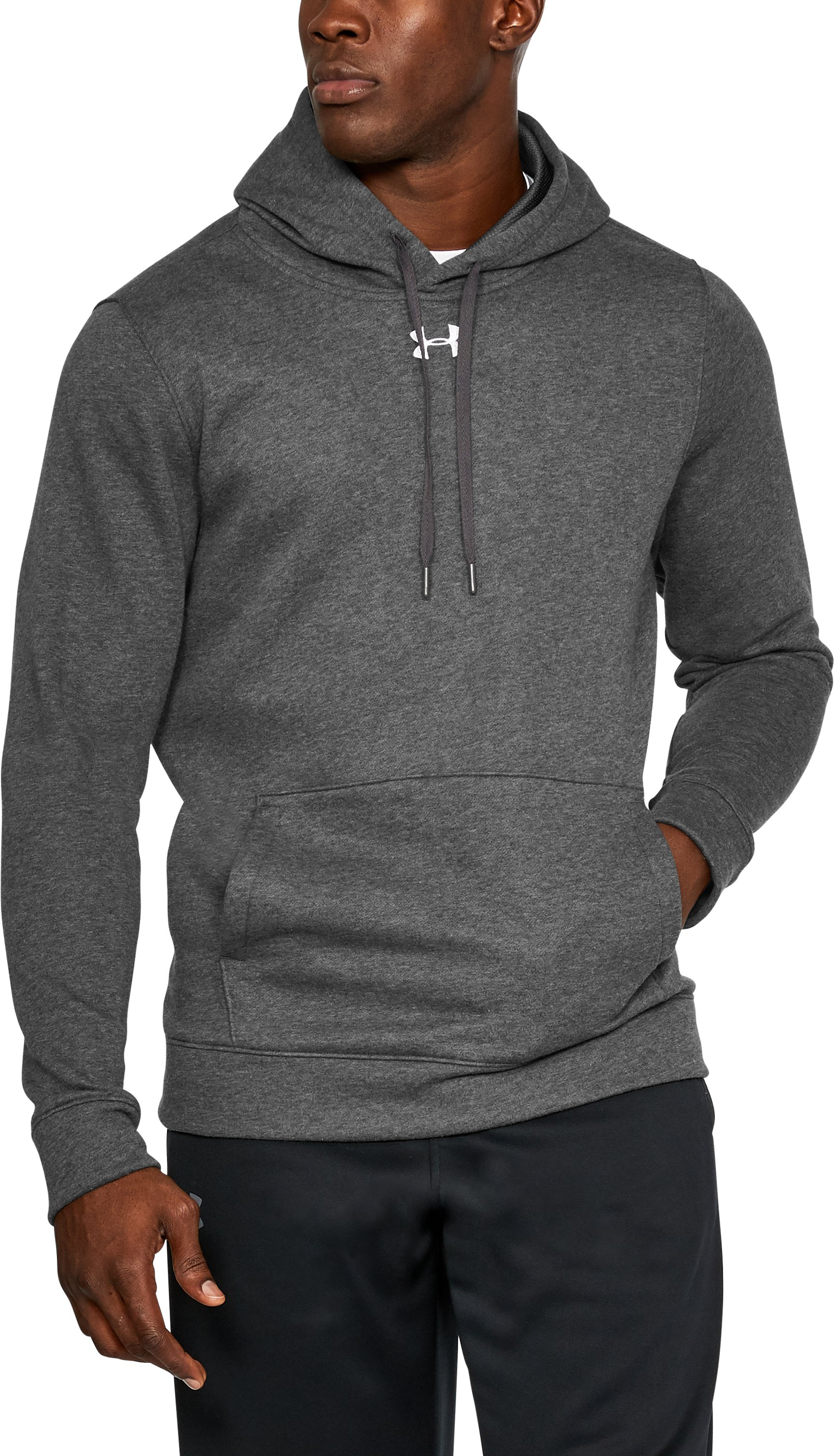 Men's UA Rival Fleece 2.0 Team Hoodie, Carbon Heather