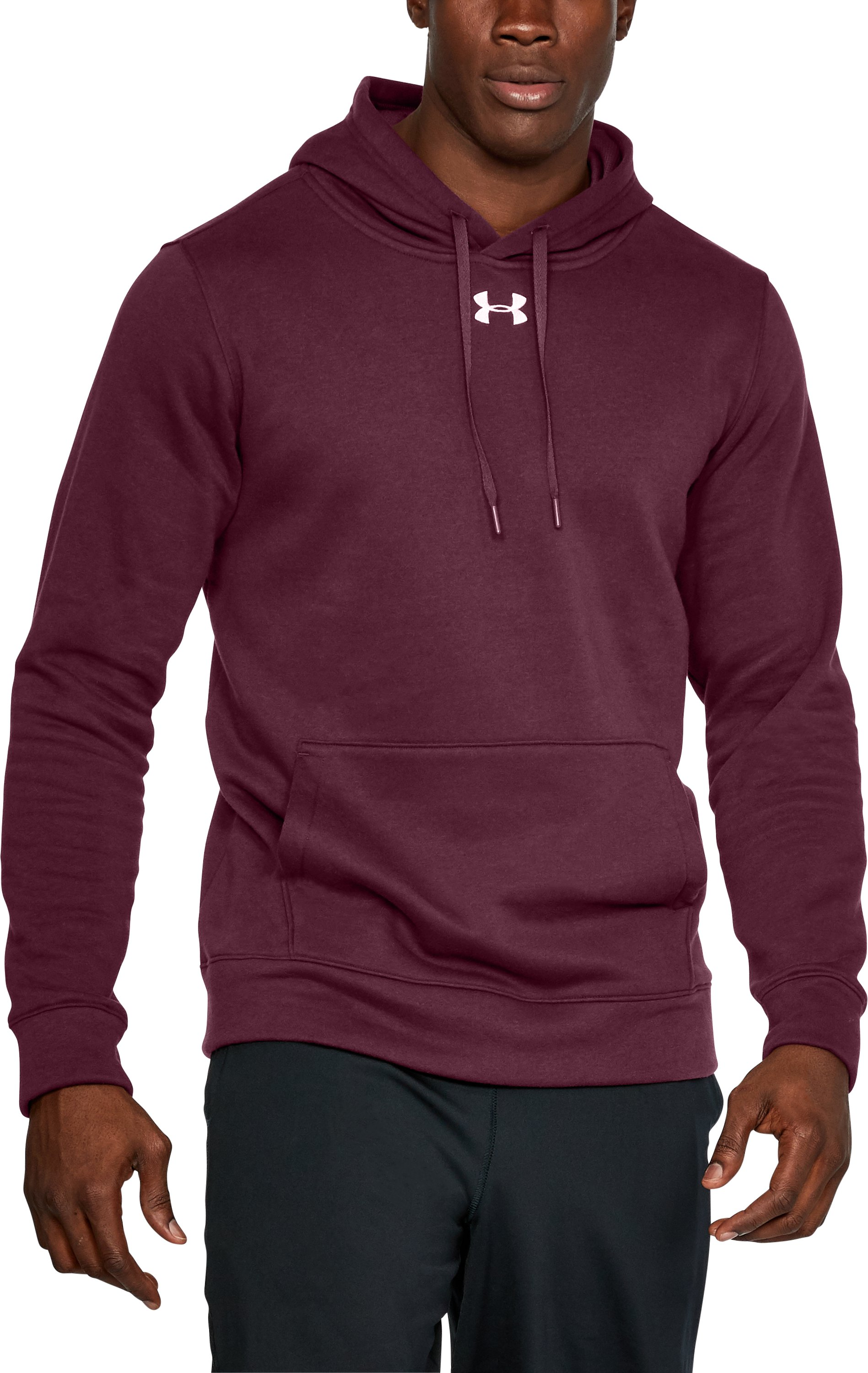 Men's UA Rival Fleece 2.0 Team Hoodie, Maroon, undefined