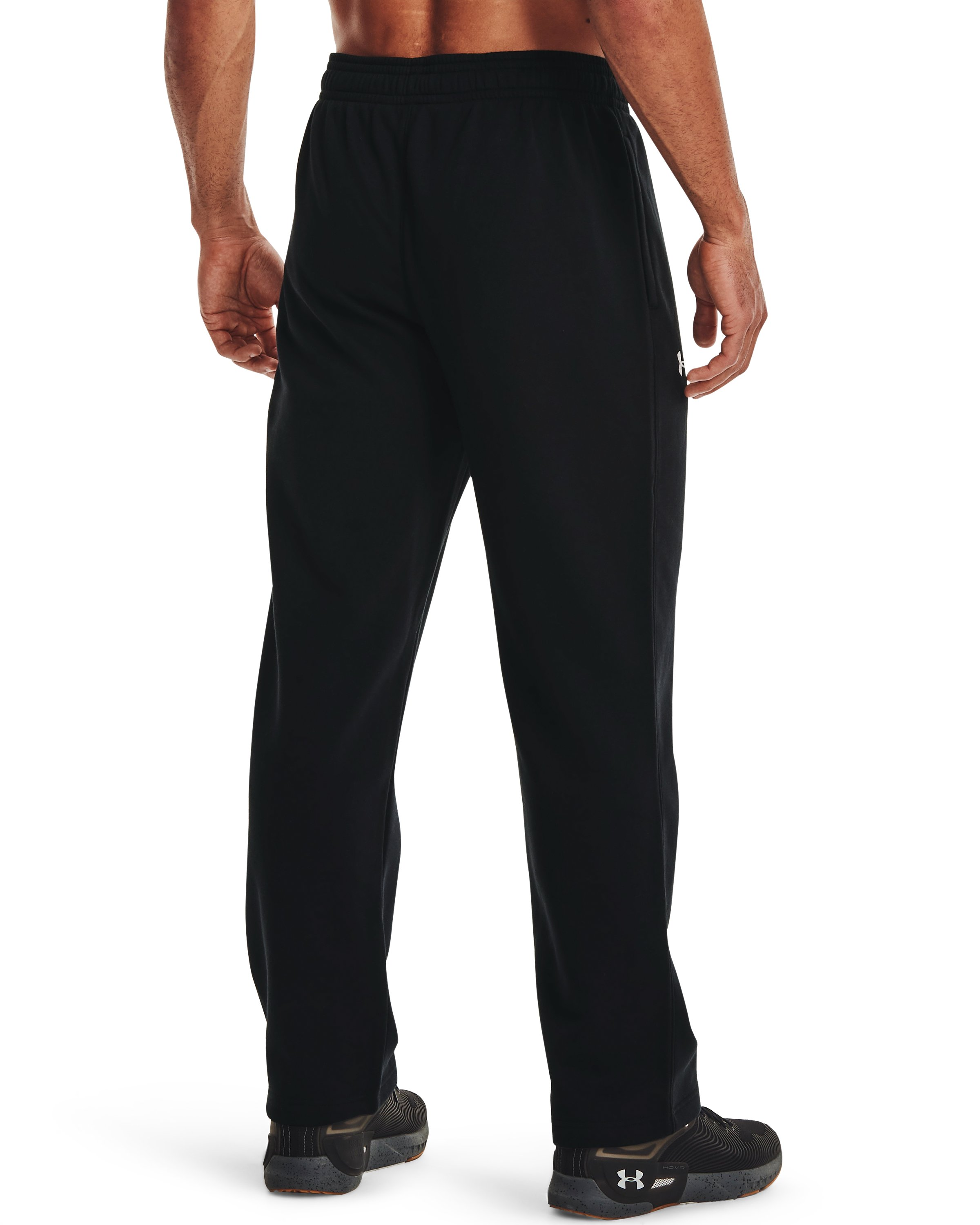 Men's UA Rival Fleece 2.0 Team Pants, Black , undefined