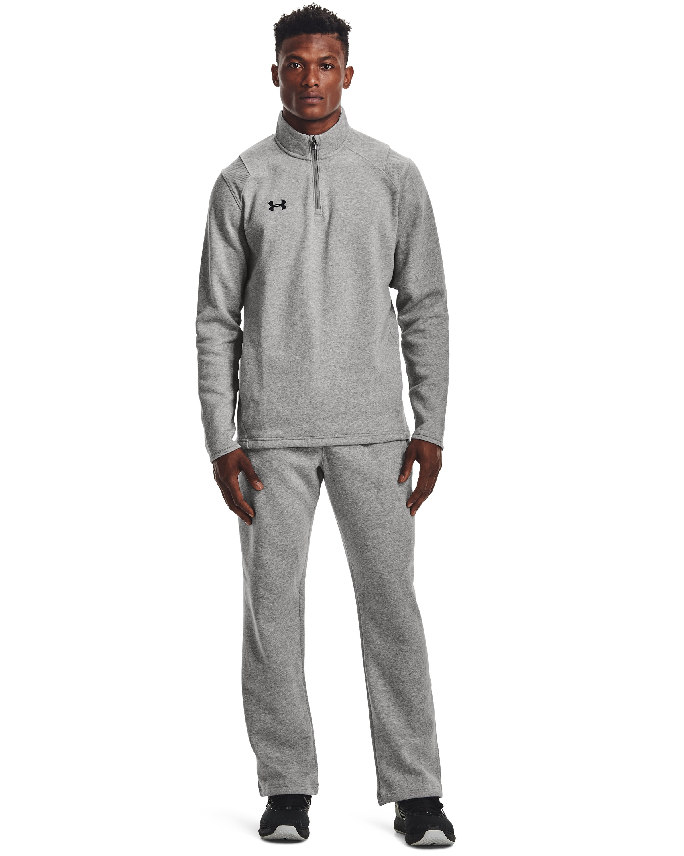 Men's UA Rival Fleece 2.0 Team Pants, True Gray Heather,