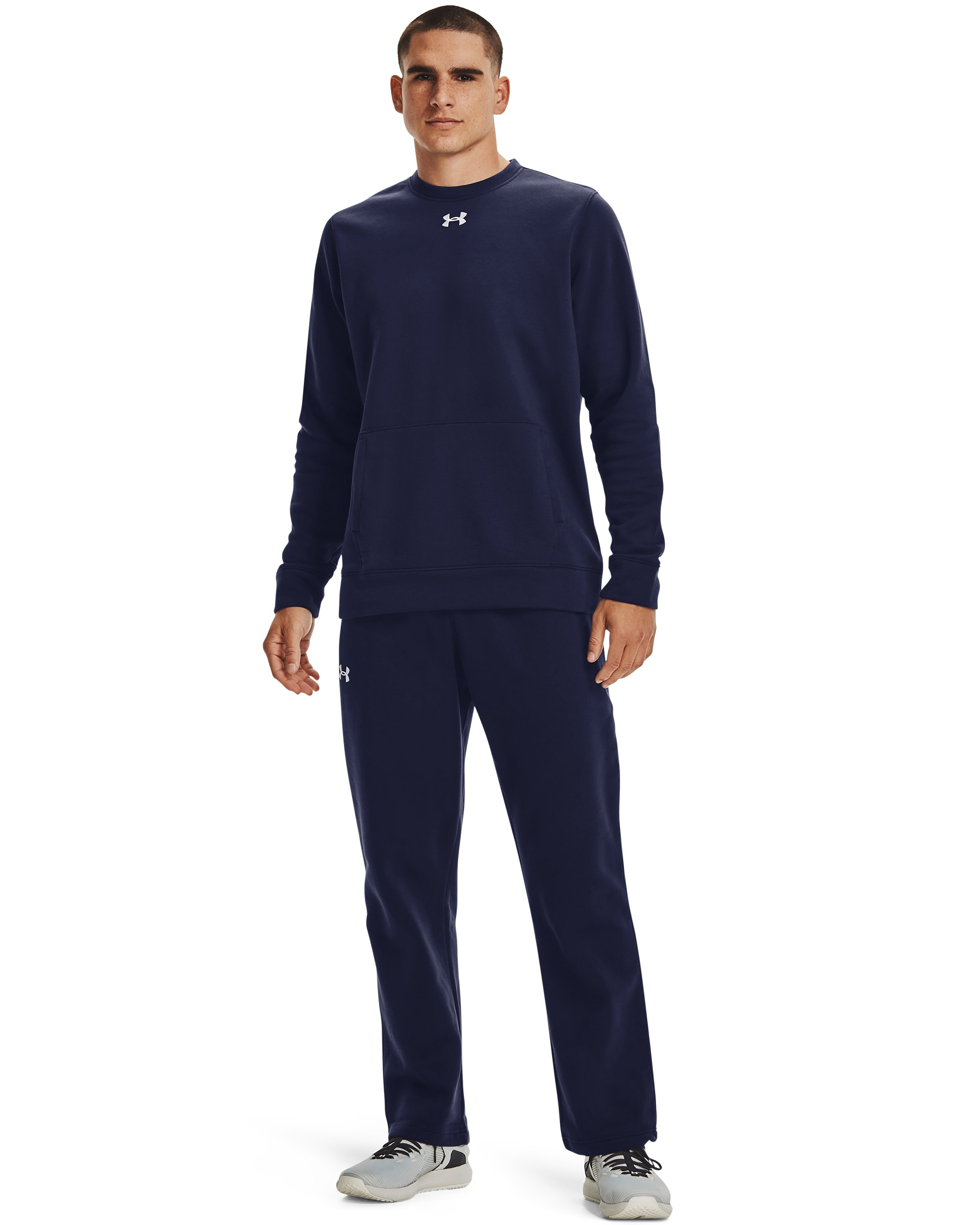 Men's UA Rival Fleece 2.0 Team Pants, Midnight Navy,
