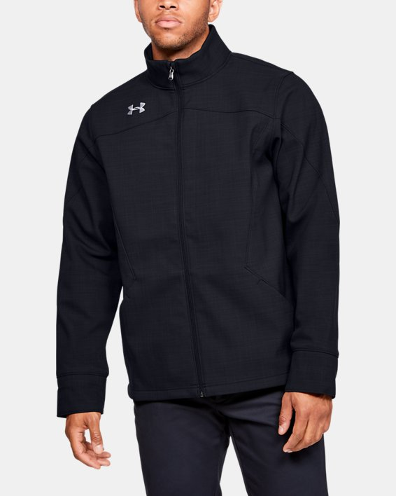 Men's UA Barrage Softshell Jacket, Black, pdpMainDesktop image number 0
