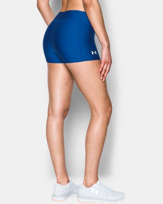 """Women's UA On The Court 3"""" Shorts, Blue, pdpMainDesktop image number 1"""