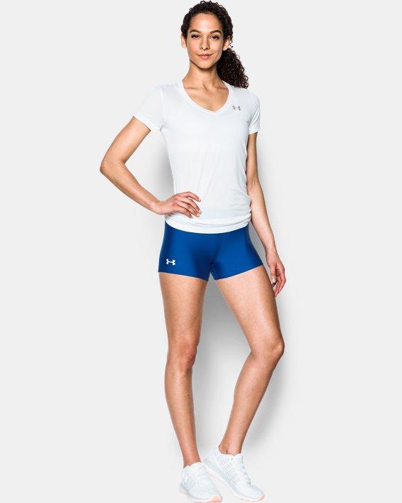 """Women's UA On The Court 3"""" Shorts, Blue, pdpMainDesktop image number 2"""