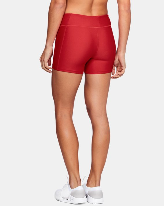 "Women's UA On The Court 4"" Shorts, Red, pdpMainDesktop image number 2"