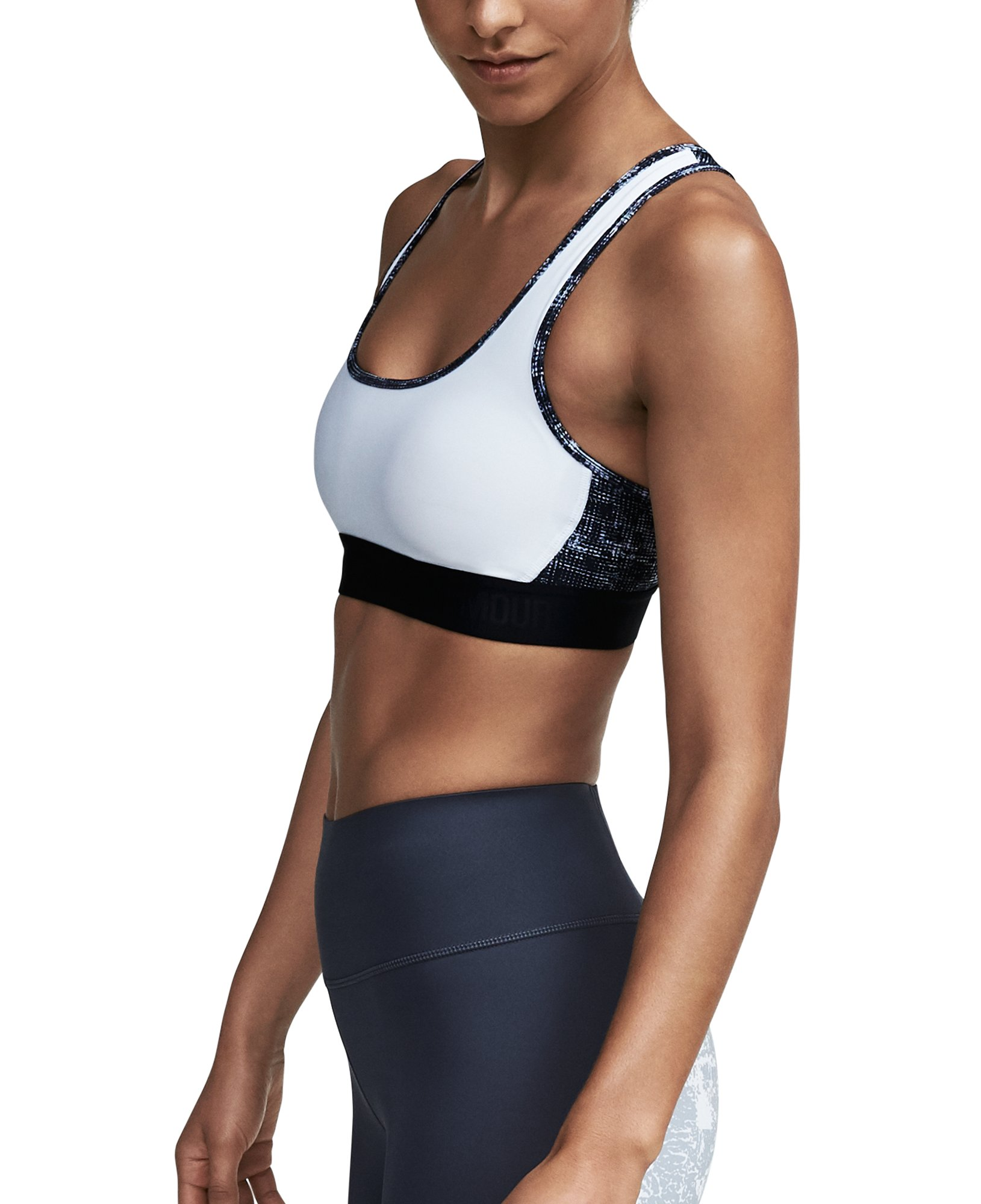 Women's Armour® Crossback Debossed Sports Bra, White