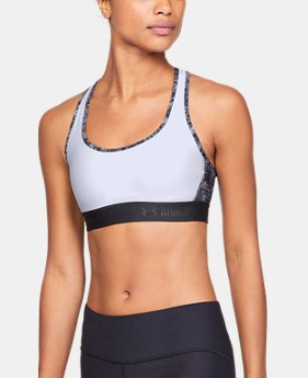 New to Outlet Women's Armour® Crossback Debossed Sports Bra  1  Color Available $20