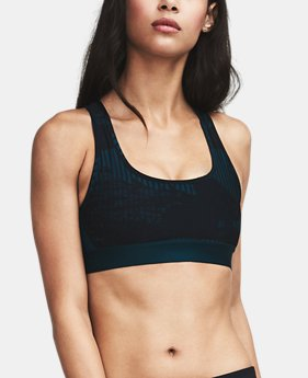 Women's Armour® Crossback Debossed Sports Bra  1 Color $27.99