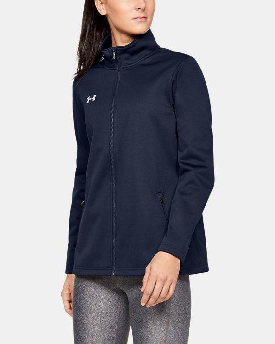 Women's UA Corp Ultimate Jacket, Navy, pdpMainDesktop image number 0