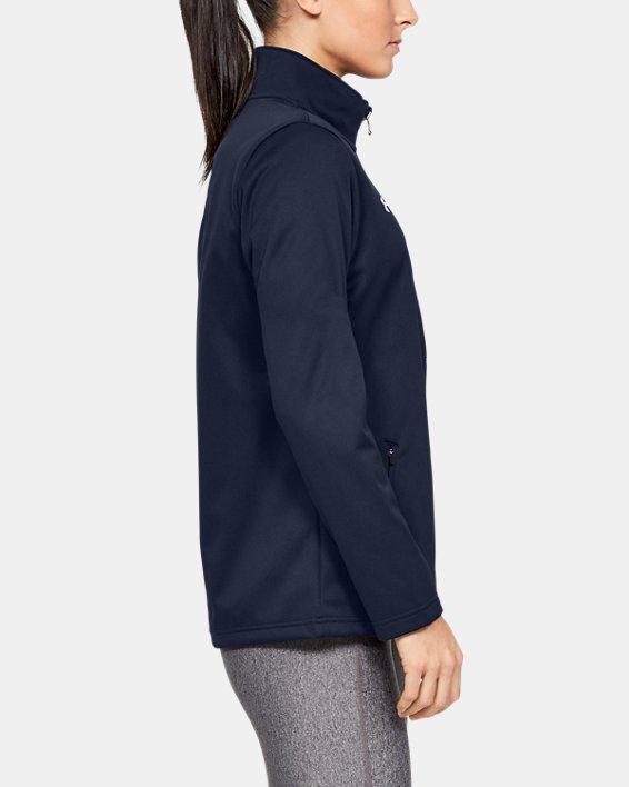 Women's UA Corp Ultimate Jacket, Navy, pdpMainDesktop image number 3
