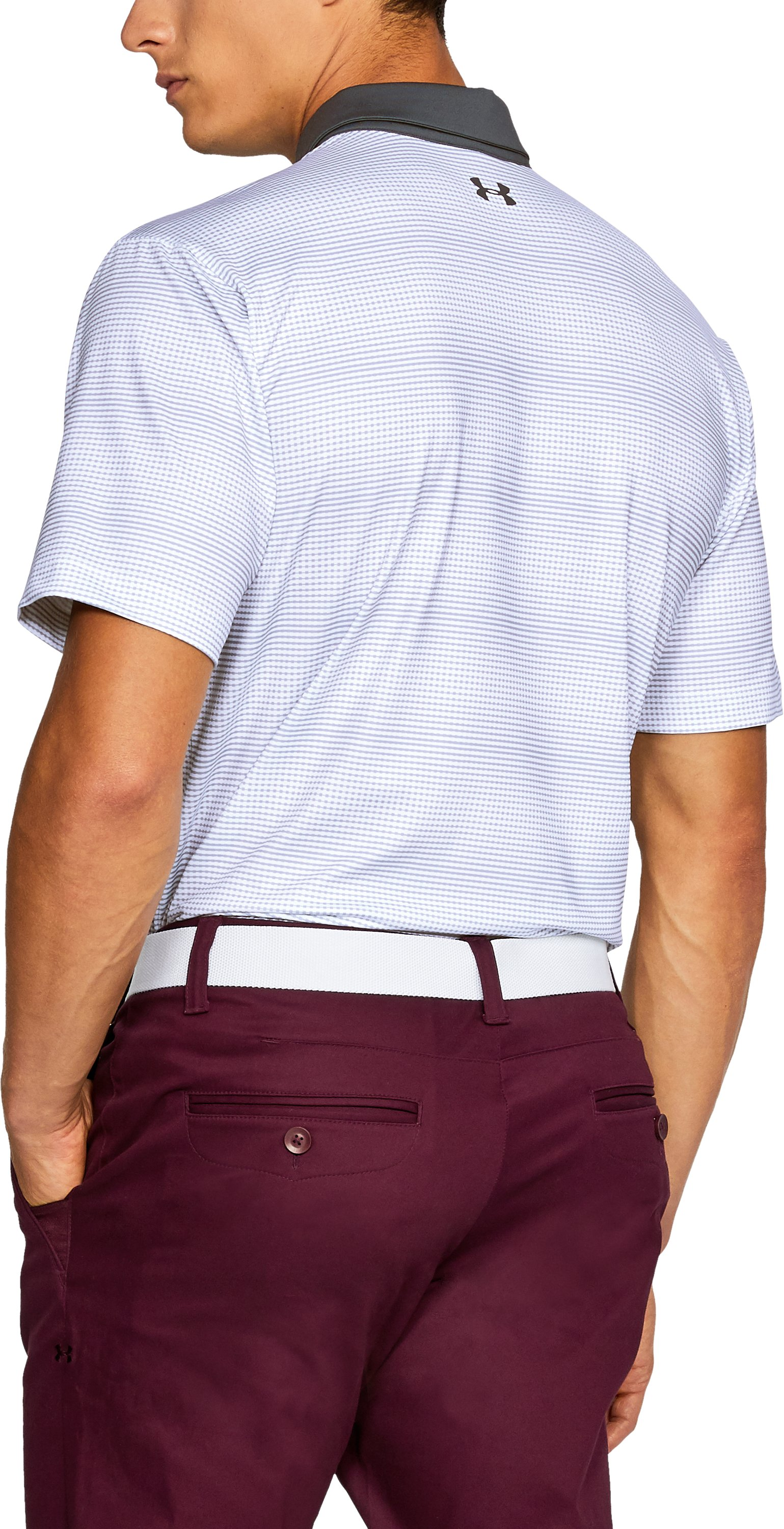 Men's UA CoolSwitch Blocked Polo, White, undefined