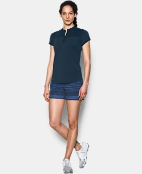 New Arrival  Women's UA Mandarin Jacquard Polo Shirt  1 Color $74.99