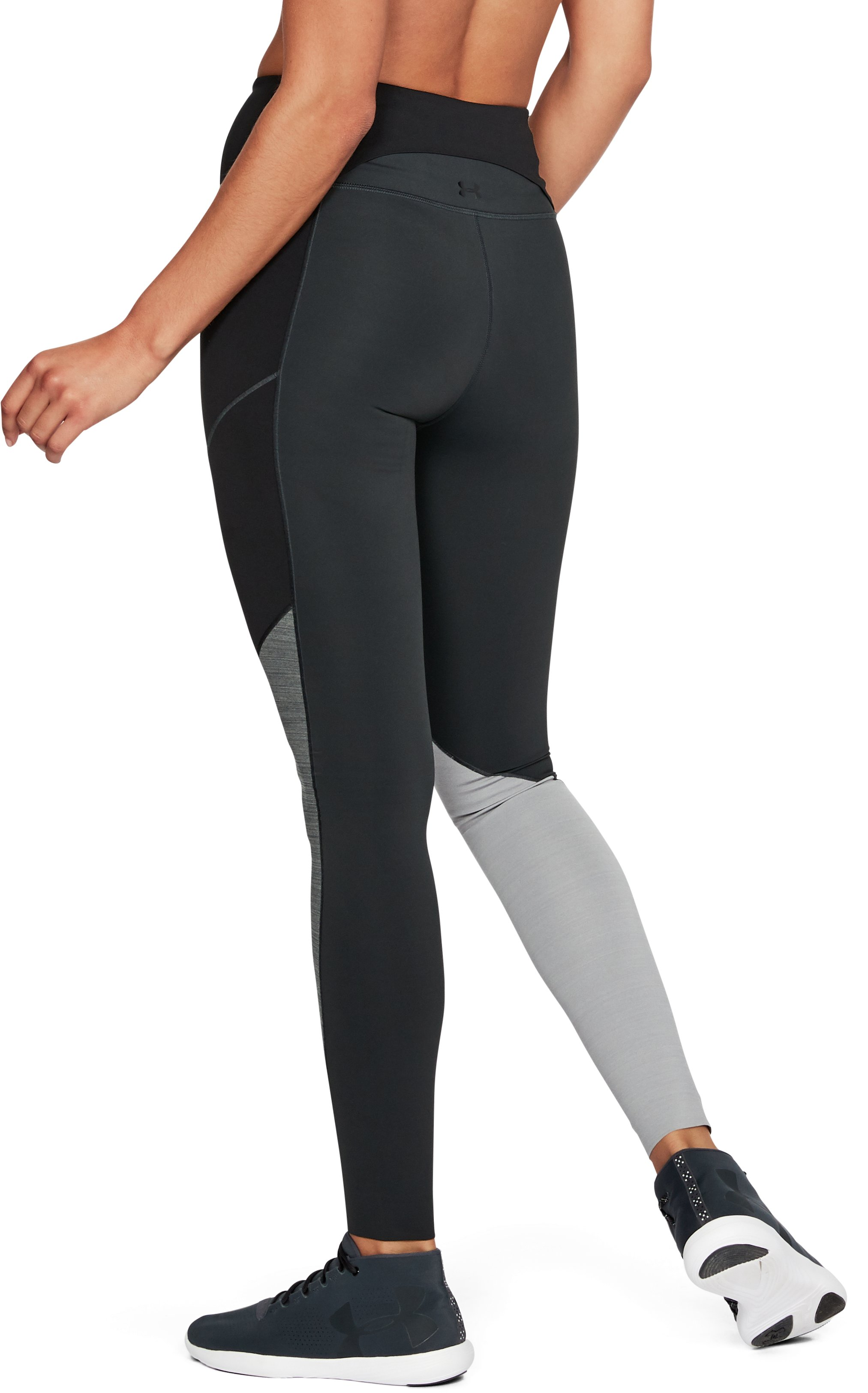 Women's UA Mirror BreatheLux Asym Hi-Rise Leggings, ANTHRACITE, undefined