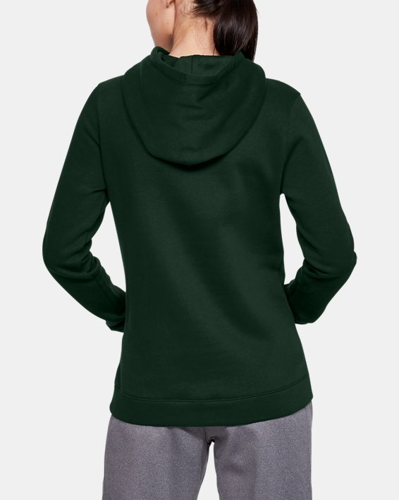 Women's UA Rival Hoodie, Green, pdpMainDesktop image number 4