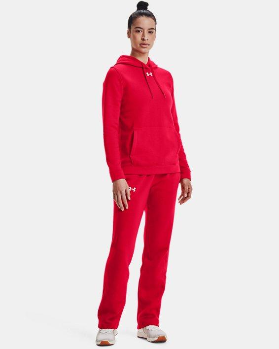 Women's UA Rival Hoodie, Red, pdpMainDesktop image number 3