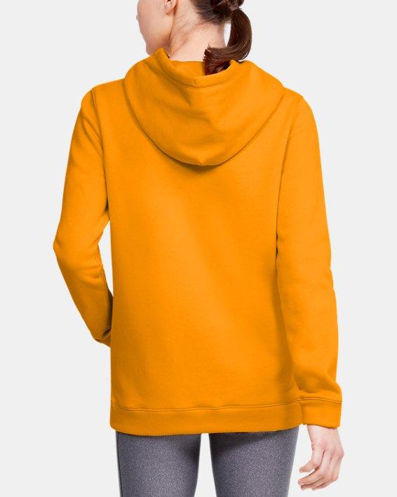 Women's UA Rival Hoodie, Yellow, pdpMainDesktop image number 2