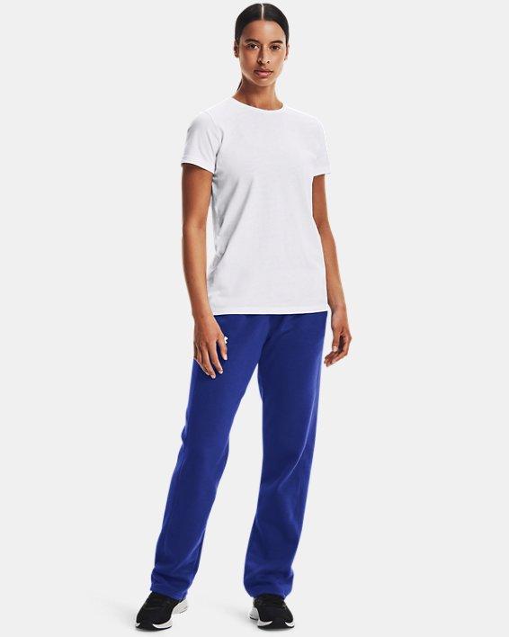 Women's UA Rival Pants, Blue, pdpMainDesktop image number 1