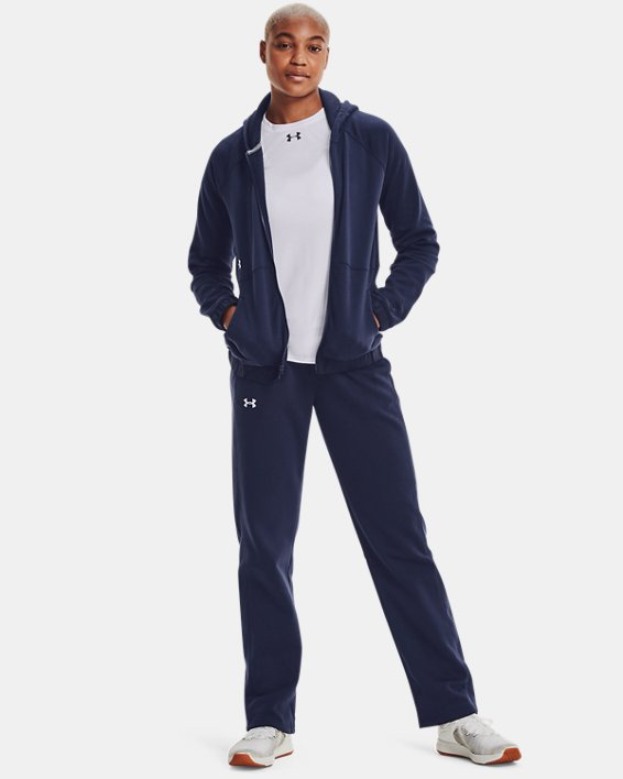 Women's UA Rival Pants, Navy, pdpMainDesktop image number 1