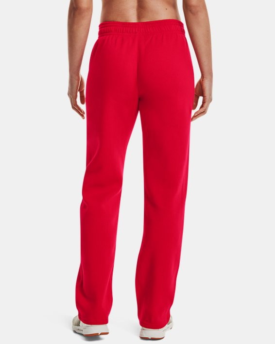 Women's UA Rival Pants, Red, pdpMainDesktop image number 2
