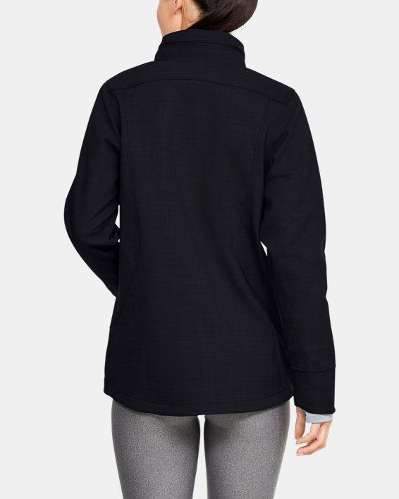 Women's UA Barrage Softshell Jacket, Black, pdpMainDesktop image number 2